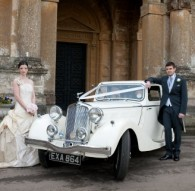Vintage Triumph Wedding Car Hire