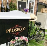 Benecci wedding Prosecco Tricycles